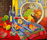 Fruit And Wine Originals - Sansom Street Still Life by Doris  Lane Grey