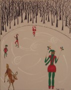 North Pole Originals - Santa and rudolf skate by Gregory Davis