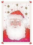 Christmas Cards Digital Art - Santa by Arline Wagner