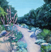 With Pallet Knife Paintings - Santa Barbara Botanical Gardens by M Schaefer
