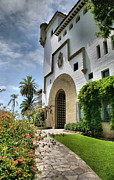 View Framed Prints Posters - Santa Barbara County Courthouse II Poster by Steven Ainsworth