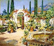 Santa Barbara Courtyard Print by Pg Reproductions