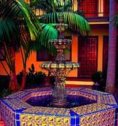 Santa Barbara Fountain Print by Ann Johndro-Collins