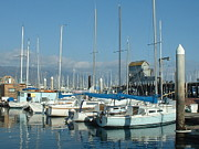 Linda Pope Metal Prints - Santa Barbara Marina Metal Print by Linda Pope