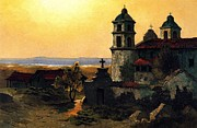 Canvas Reproduction Paintings - Santa Barbara Mission by Pg Reproductions