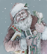 Toys Drawings - Santa Bearing Gifts by Shane Guinn
