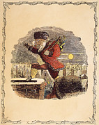Saint Nicholas Prints - Santa Claus, 1848 Print by Granger
