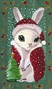 Santa Claus Bunny Print by Sylvia Pimental