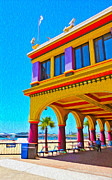 Santa Cruz Boardwalk - Arcade -01 Print by Gregory Dyer