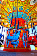 Santa Cruz Boardwalk - Tilt-a-whirl - 02 Print by Gregory Dyer