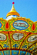 Santa Cruz Boardwalk - Tilt-a-whirl - 03 Print by Gregory Dyer