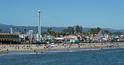 Santa Cruz Boardwalk And Beach - California Print by Brendan Reals