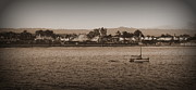 Santa Cruz Sailboat Art - Santa Cruz boardwalk sepia by Garnett  Jaeger