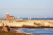 Santa Cruz Sailboat Art - Santa Cruz Lighthouse by Paul Topp