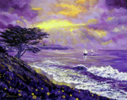 Santa Cruz Sailboat Art - Santa Cruz Rhapsody by Laura Iverson