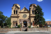 Francis Photo Framed Prints - Santa Fe - Basilica of St. Francis of Assisi Framed Print by Frank Romeo