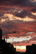 Julia Hiebaum Photo Acrylic Prints - Santa Fe at Dusk New Mexico Acrylic Print by Julia Hiebaum