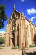 Religious Prints Photos - Santa Fe Church by Frank Romeo
