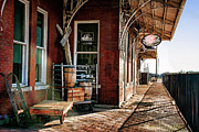 Depot Photos - Santa Fe Depot of Guthrie by Lana Trussell