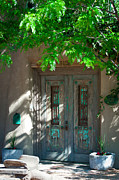 Taos Photos - Santa Fe Door by David Patterson