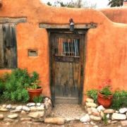 Nm Photos - Santa Fe Door by Matt Suess