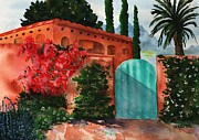 Villa Paintings - Santa Fe Dwelling by Sharon Mick