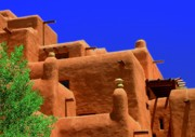 Rooftop Framed Prints - Santa Fe Framed Print by Neil McCarver