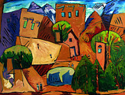 Canyon Painting Posters - Santa Fe On My Mind Poster by Charlie Spear