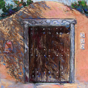 Adobe Pastels Prints - Santa Fe Shadows Print by Julia Patterson