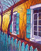 Building Pastels Prints - Santa Fe Shutters Print by Candy Mayer