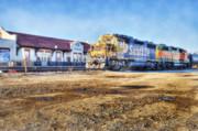 Santa Fe Train In Ardmore Print by Tamyra Ayles