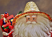 Straw Hats Photos - Santa is a gardener by Christine Till