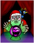 Psychic Posters - Santa Knows Poster by Christopher Capozzi