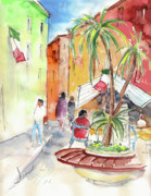 Travel Sketch Drawings - Santa Margherita in Italy 05 by Miki De Goodaboom
