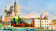 "\""great One\\\"" Digital Art Posters - Santa Maria De La Salute Poster by Yury Malkov"