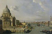 Gondolier Paintings - Santa Maria della Salute - Venice  by William James