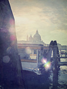 Incidental People Prints - Santa Maria Della Salute Print by Marco Misuri