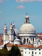 Red Roofs Photos - Santa Maria della Salute Venice by Julie Palencia