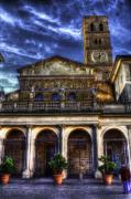 Trastevere Framed Prints - Santa Maria in Trastevere Framed Print by Brian Thomson