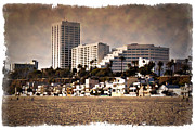 Monica Framed Prints - Santa Monica - IMPRESSIONS Framed Print by Ricky Barnard