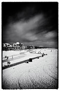 Monica Framed Prints - Santa Monica Beach V Framed Print by John Rizzuto