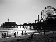 California Beach Photos - Santa Monica Pier by John Gusky