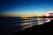 Beach Photograph Prints - Santa Monica Pier Print by Kelly Wade