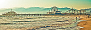 Santa Monica Digital Art Metal Prints - Santa Monica Pier Metal Print by Kinga Szymczyk