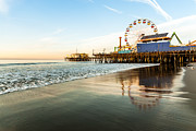 Photogaph Art - Santa Monica Pier Sunrise by Josh Whalen