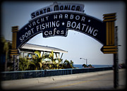 Monica Framed Prints - Santa Monica Sign Series Holga Framed Print by Ricky Barnard