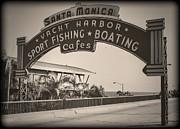 Santa Monica Sign Series Modern Vintage Print by Ricky Barnard