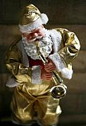Santa Clause Posters - Santa Playing the Saxaphone Poster by Marilyn Hunt