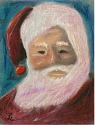 Denver Pastels Prints - Santa Portrait 2011 Print by Thomas Cavaness
