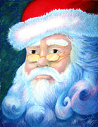 Portrait Pastels Prints - Santa Portrait Print by Sean Seal